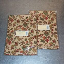 Longaberger Autumn Path Napkins 4-napkins Perfect For Fall New In Bags