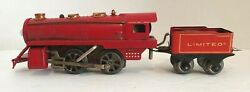 1920's American Flyer Wind Up Empire Express Train Set With Track