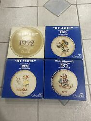 Lot Of 4 Mj Hummel Goebel Annual Collector Plates 1972-1975