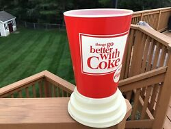 Coca Cola Cup Lighted Light Up Sign 1960andrsquos. Not Tin Sign Or Porcelain