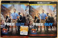 Free Guy 4k Ultra Hd + Blu Ray 2 Disc Set With Slipcover Sleeve Free Shipping