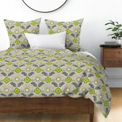 Farm Brocade Floral Sateen Duvet Cover By Roostery