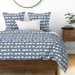Knitting Sheep Blue Ting Farm Animal Lamb Wool Sateen Duvet Cover By Roostery
