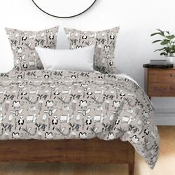 Panda Animals Zoo Dragon Elephant Bat Sateen Duvet Cover by Roostery