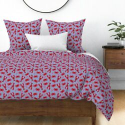Lobster Lobsters Crabs Preppy Ocean Nautical Sateen Duvet Cover By Roostery