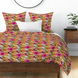 Geometric Farm Mod Summer Food Tribal Abstract Sateen Duvet Cover By Roostery