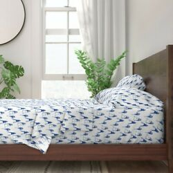 Blue Lighthouses Lighthouse Maine 100 Cotton Sateen Sheet Set By Roostery