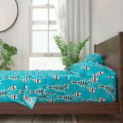 Animals Ocean Animals Lobsters Beach 100 Cotton Sateen Sheet Set By Roostery