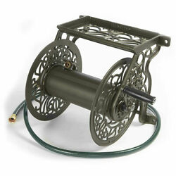 Liberty Garden Products 704 Bronze, Decorative Wall Mounted Hose Reel