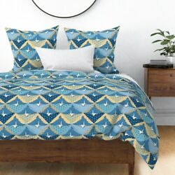 Origami Paper Folding Japanese Art Cranes Birds Sateen Duvet Cover By Roostery