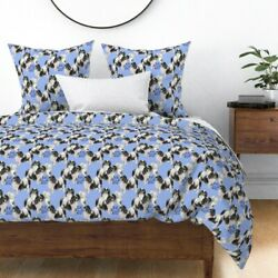 Blue Japanese Chin Dogs Animals Dog Pet Portrait Sateen Duvet Cover By Roostery