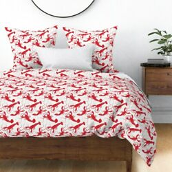 Summer Lobsters Seafood Kitchen Decor Ocean Sea Sateen Duvet Cover By Roostery