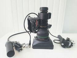 Canon J21ax 7.8b Wrs J21 Sd Lens 2/3 Video Optique B4 + Remotes Zoom And Focus