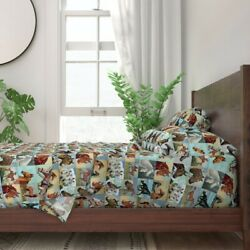 Paint Number Painted Horses Pbn Horses 100 Cotton Sateen Sheet Set By Roostery