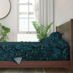 Retro Tropical Beach Lobster Lobsters 100 Cotton Sateen Sheet Set By Roostery
