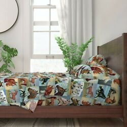 Painted Horses Paint Number Western 100 Cotton Sateen Sheet Set By Roostery