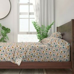 Indy Bloom Fall Floral Shoes Headband 100 Cotton Sateen Sheet Set By Roostery