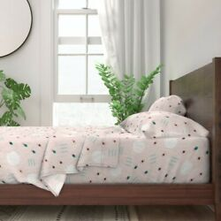 Shapes Abstract Pink Kids Speckles Home 100 Cotton Sateen Sheet Set By Roostery
