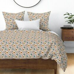 Indy Bloom Fall Floral Shoes Headband Sateen Duvet Cover By Roostery