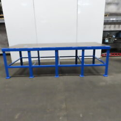 48 X 120 X 36 Tall Steel Top 3/8 Thick Heavy Work Assembly Welding Table