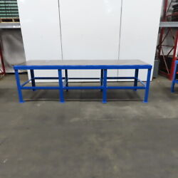 36 X120 X 36 Tall 1 Thick Steel Top Work Assembly Fabrication Welding Table