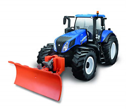 Maisto - New Holland Tractor W/snow Plow R/c 116 27mhz 140 Uk Import Toy New