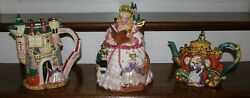 Fitz And Floyd Cinderella Collection Collectible Cookie Jar Pitcher And Teapot