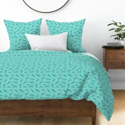 Blue Red Lobster Lobsters Nautical Sateen Duvet Cover By Roostery