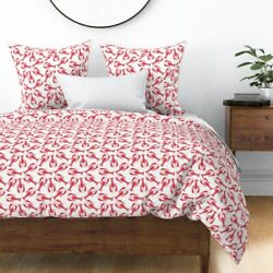 Red And White Lobsters Summer Beach Decor Lobster Sateen Duvet Cover By Roostery