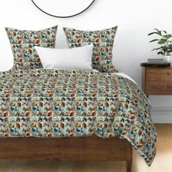 Paint Number Painted Horses Pbn Horses And Colts Sateen Duvet Cover By Roostery