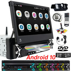 7 Single 1 Din Car Flip Out Cd Dvd Carplay Radio Android 10 Touch Screen Gps Tv
