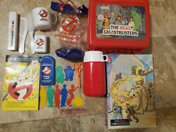 The Real Ghostbusters Vintage Lot Lunchbox Pencil Case Puzzle Locker Bag Book