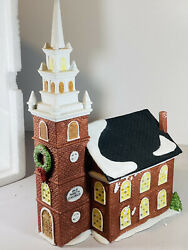 Dept 56 Heritage Village New England Series Old North Church Christmas In Box