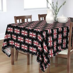 Tablecloth England Flag Union Jack Red White Britain United Cotton Sateen