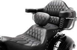 Mustang 79664 Heated One-piece Touring Seat Indian 16-19 Indian Roadmaster