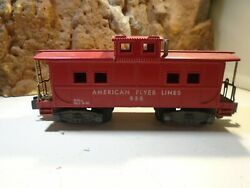 American Flyer Lines S Scale 1951 Vintage Red Caboose No 938   5-66-14