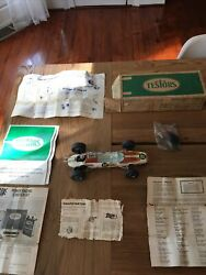 Vintage 1970s Testors Indy 500 Tether 22 Sprite Gas Powered Car W/manual And Box