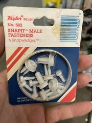 Taylor Made Products 502 Male Snap It Fastener Pkg Nla - Old - Yucky