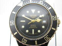 Circa 1980 Vtg Tag Heuer 200m Pro Swiss Watch A876 Works But Needs Restore