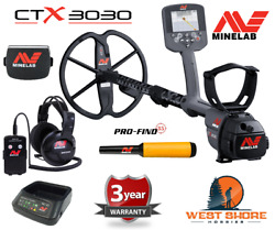 Minelab Ctx 3030 Metal Detector + Pro-find 35 Pinpointer With Current Updates