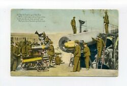 Antique Military Postcard, How Proud I Am That You Backed Up Uncle Sam, Guns