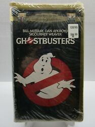 Vhs Ghostbusters 1984 Movie Gold Clam Shell New And Sealed
