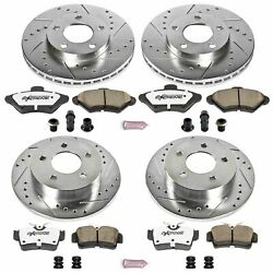 Disc Brake Kit Front Rear Power Stop K1300-26 Fits 94-98 Ford Mustang