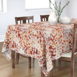 Tablecloth Rusty Pitted Steel Plate Vintage Large Scale Cotton Sateen