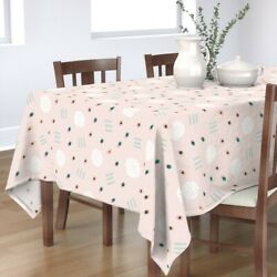 Tablecloth Shapes Abstract Pink Kids Speckles Home Large Scale Cotton Sateen