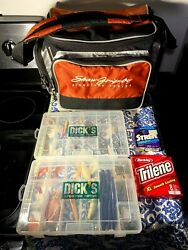 Fishing Tackle Waterproof Heavy Duty Bag Multiple Storage Compartments + Lures🐟