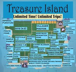 Treasure Island/catalog Loot. One Price For Unlimited Time/unlimited Trips -