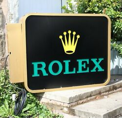 Rolex Wall Mounted Exterior Illuminated Double Sided Sign