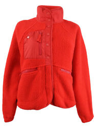 Free People Womenandrsquos Hit The Slopes Fleece Jacket S Cardinal Red