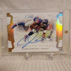 2020 Flawless Andre Johnson Flawless 🏉flyer Auto 4/15 🔥 Houston Texans